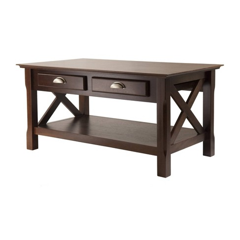 Xola Coffee Table with 2 Drawers - Cappuccino - Winsome - image 1 of 4