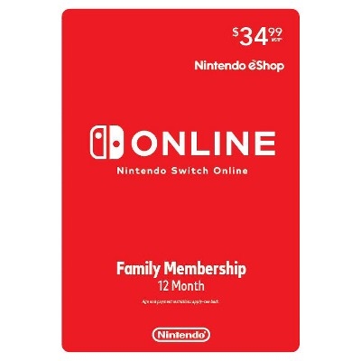 Nintendo Switch Online Family Membership 12 Month (Digital)