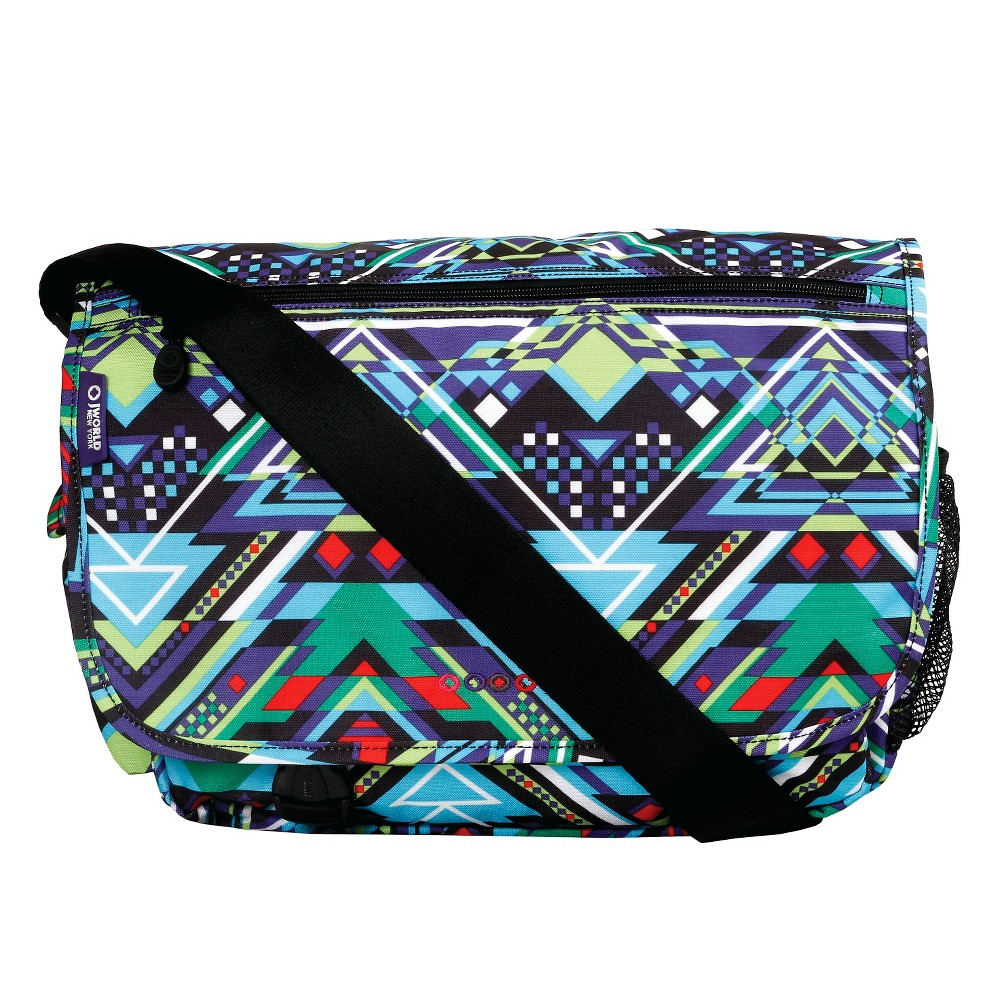 J World Terry Messenger Bag, Multi-Colored