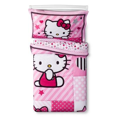 Hello Kitty® Sweetheart Pink Bedding Set (Toddler)4pc