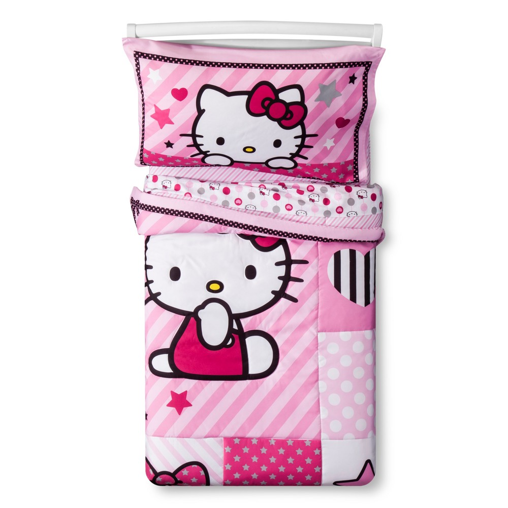 Image of Hello Kitty Sweetheart Pink Bedding Set (Toddler) 4pc, Multi-Colored