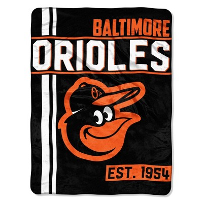 MLB Baltimore Orioles Micro Fleece Throw Blanket