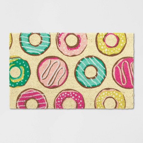 "1'6""X2'6""/18""X30"" Donut Tufted Doormat Pink Icing - Opalhouse™ - image 1 of 10"