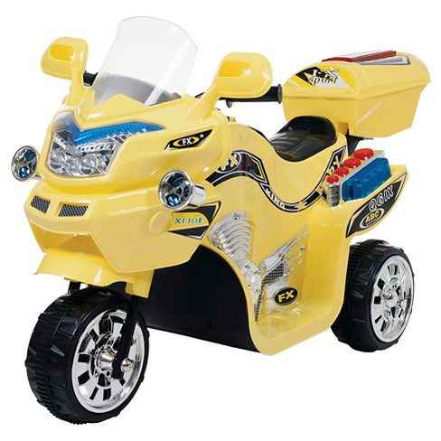 Lil' Rider 3 Wheel Battery Powered FX Sport Bike - Yellow - image 1 of 1