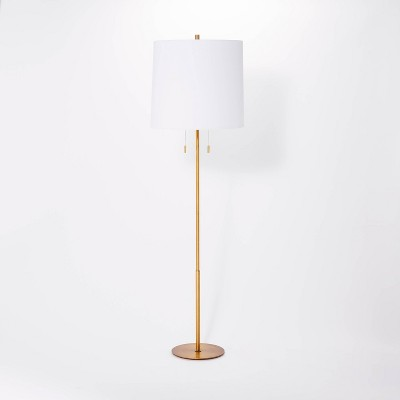Tapered Shade Metal Floor Lamp (Includes LED Light Bulb)Brass - Threshold™ designed with Studio McGee