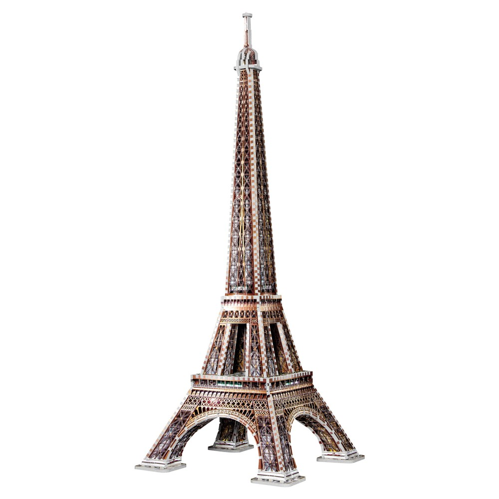 Wrebbit 3D - 2009 Eiffel Tower 3D Puzzle 816pc The most requested is finally here! Here is our newest model-the Eiffel Tower. Measuring 40 inches high, this 3D puzzle will charm you with its 816 pieces and its most detailed illustration. A sure Wow! The foam backed full color puzzle consists of 816 pieces Age - 12 and up. Approximate finished dimensions - 15.16 x 15.16 x 40.16 inches. Warning: Choking Hazard - Small parts. Not for children under 3 yrs. Gender: Unisex.