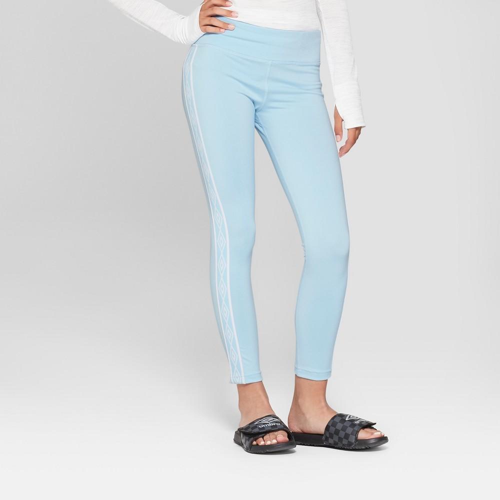 Umbro Girls' Double Diamond Performance Leggings - Light Airy Blue XS, Air Blue
