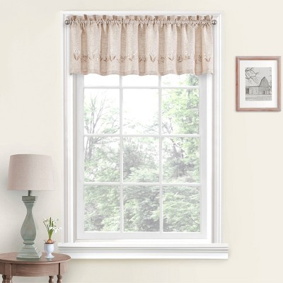 """14""""x60"""" Lily of the Valley Valance White - Vue"""