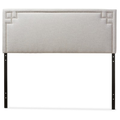 Geneva Modern And Contemporary Fabric Upholstered Headboard - Baxton Studio