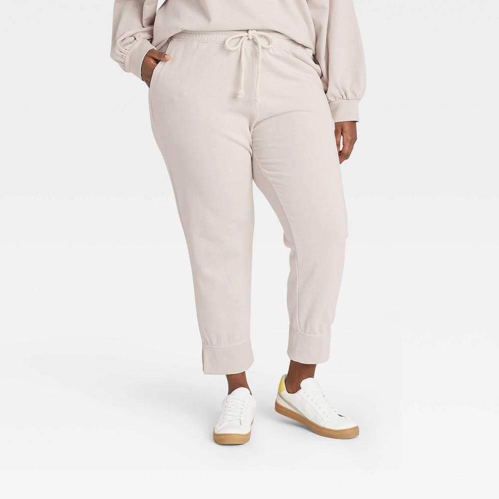Women 39 S Plus Size Jogger Pants Universal Thread 8482 Cream 3x