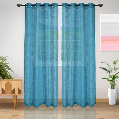 Delicate Dot Sheer Grommet Curtain Panel Set by Blue Nile Mills