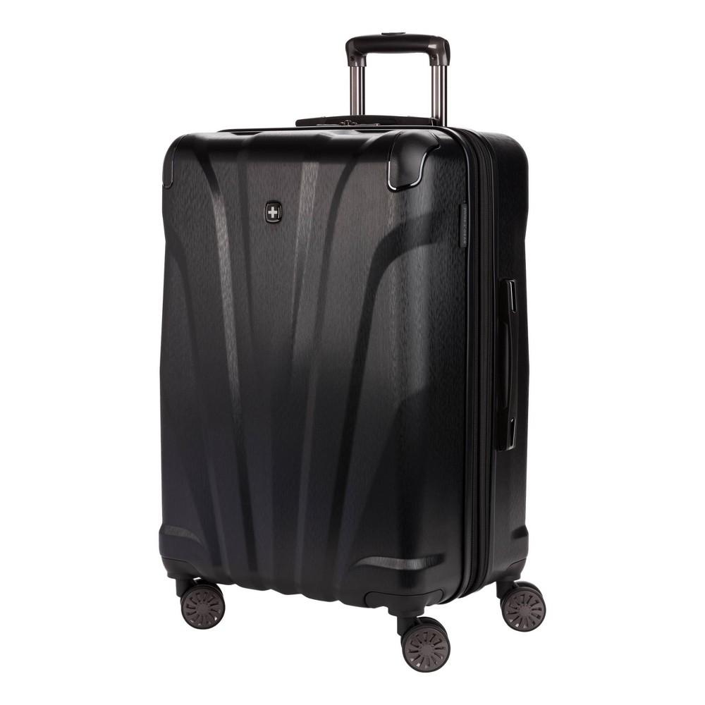 Swissgear 24 34 Cascade Checked Suitcase Black