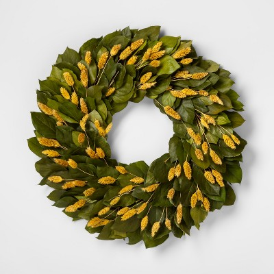 Lemon Leaves and Phalaris Wreath 22  - Smith & Hawken™