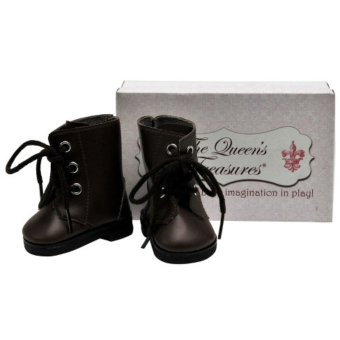 The Queen's Treasures® 18 Inch Doll Clothes Accessory, Brown Lace Up Vintage Style Boots Plus Shoe Box - image 1 of 6