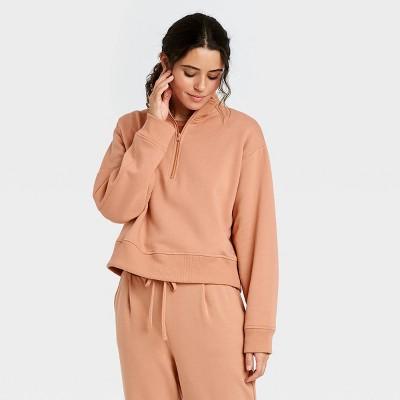 Women's All Day Fleece Quarter Zip Sweatshirt  - A New Day™