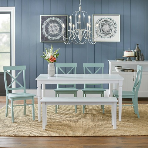 6 Piece Albury Dining Set With Bench - Target Marketing Systems - image 1 of 4