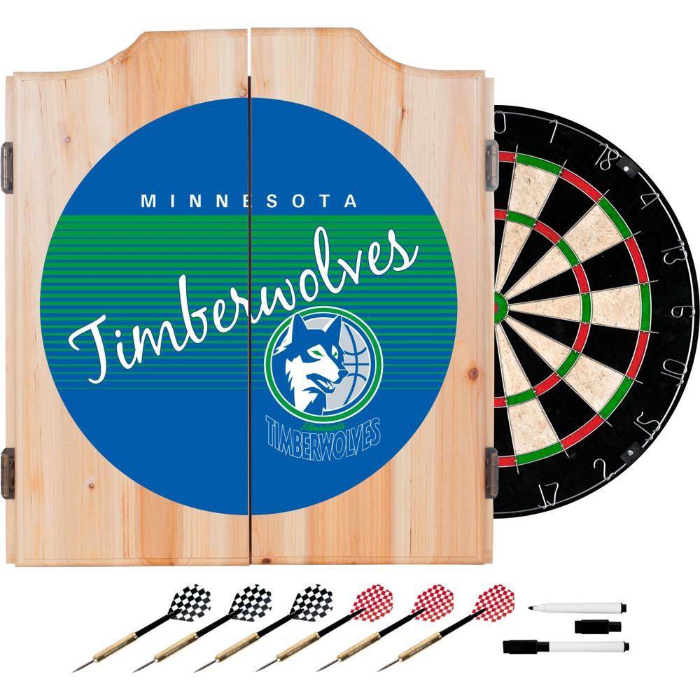 Minnesota Timberwolves Hardwood Classics Dart Cabinet Set