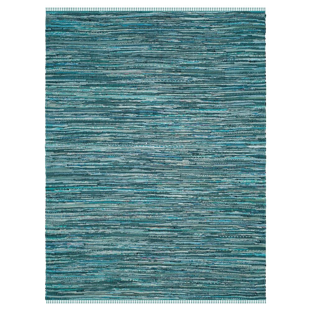 Turquoise Spacedye Design Flatweave Woven Area Rug 5'X8' - Safavieh, Turquoise/Multicolor