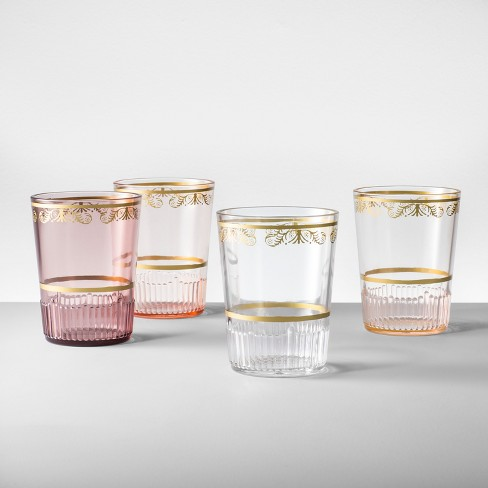 Plastic Tumblers 16oz Pink Set of 4 - Opalhouse™ - image 1 of 5