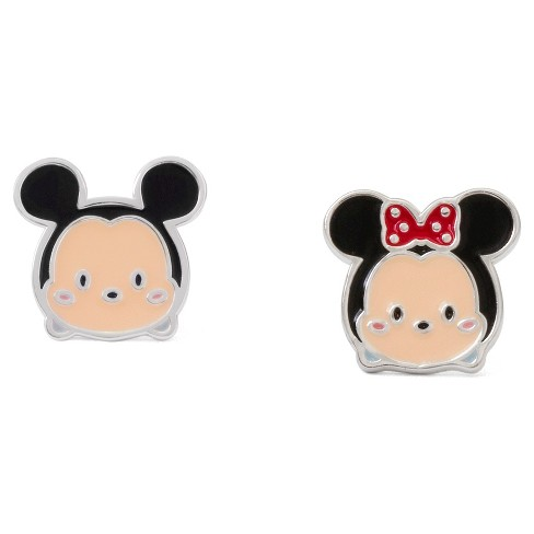 Disney Tsum Tsum Mickey & Minnie Sterling Silver Mismatch Stud Earring Set - image 1 of 1