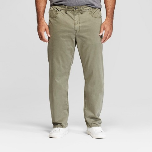 Men's Tall Slim Straight Fit Twill Pants - Goodfellow & Co™ Moss - image 1 of 3