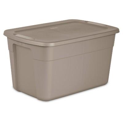 Sterilite 30gal Storage Bin Tan