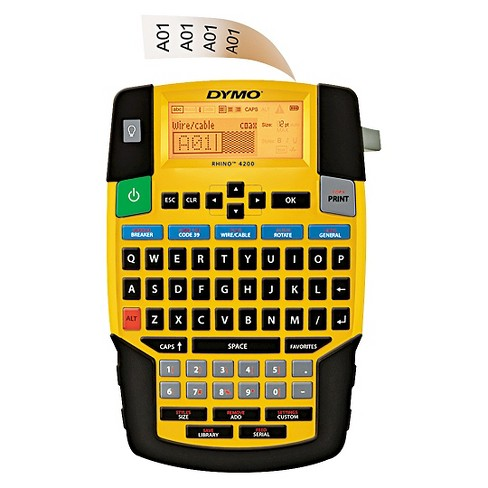 DYMO® Rhino 4200 Basic Industrial Handheld Label Maker, 1 Line, 8w x 12d x 2-1/2h - image 1 of 1