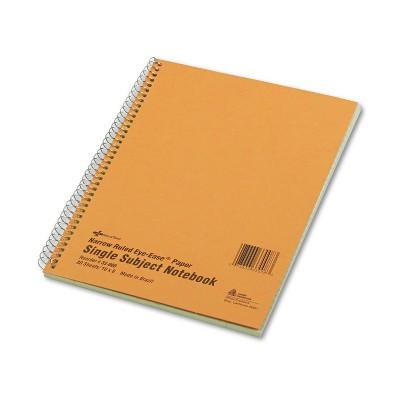 National Subject Wirebound Notebook Narrow/Margin Rule 8 x 10 Green 80 Sheets 33008