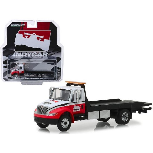 International Durastar Flatbed Truck White And Red Indycar Series Hobby Exclusive 1 64 Diecast Model By Greenlight Target