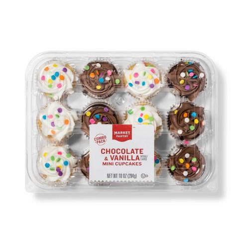 Excellent Chocolate Vanilla Mini Cupcake 10 5 Market Pantry Target Funny Birthday Cards Online Unhofree Goldxyz