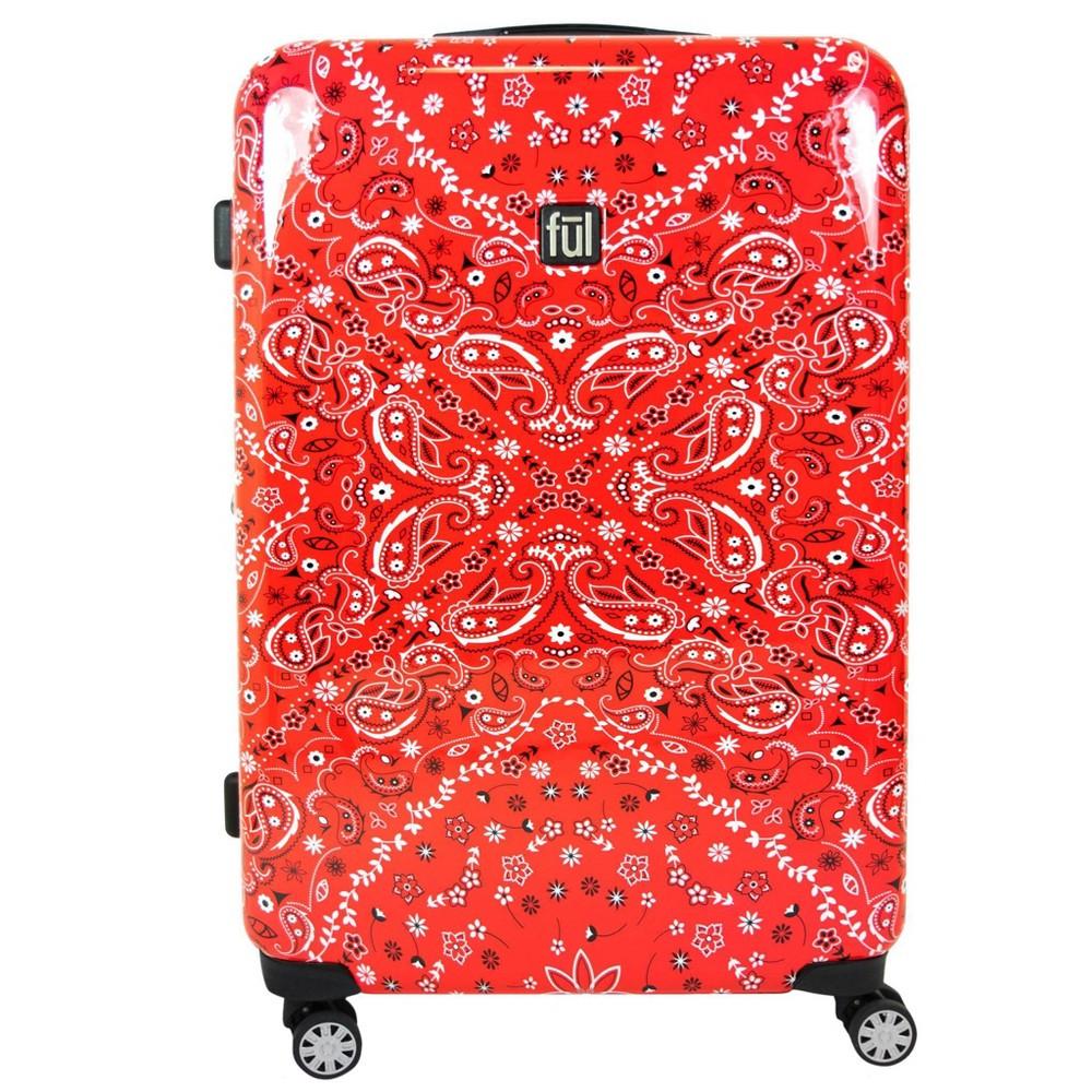 "Image of ""FUL 29"""" Bandana Hardside Spinner Suitcase - Red, Size: Small"""