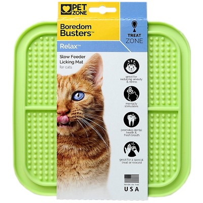 Pet Zone Boredom Busters Relax Slow Feeder Licking Cat Mat