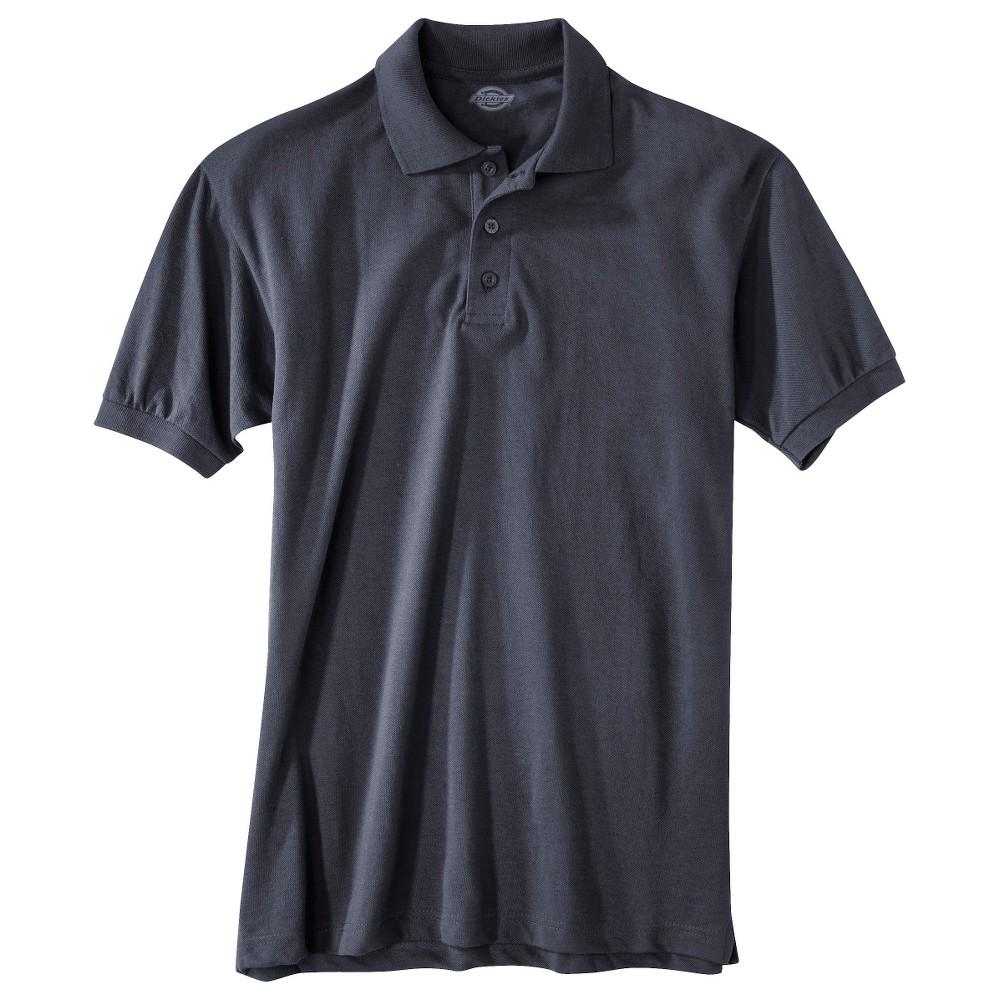 Image of Dickies Men's Pique Uniform Polo Shirt - Dark Navy L, Size: Large, Dark Blue