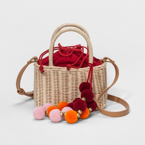 Straw Basket Crossbody Bag - A New Day™ - image 1 of 4
