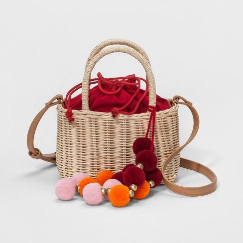 dab07f1924f2 Straw Basket Crossbody Bag - A New Day™   Target