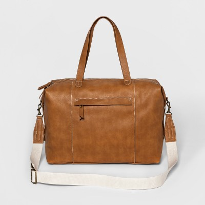 Next Faux Leather Weekender Bag - Universal Thread™ Cognac