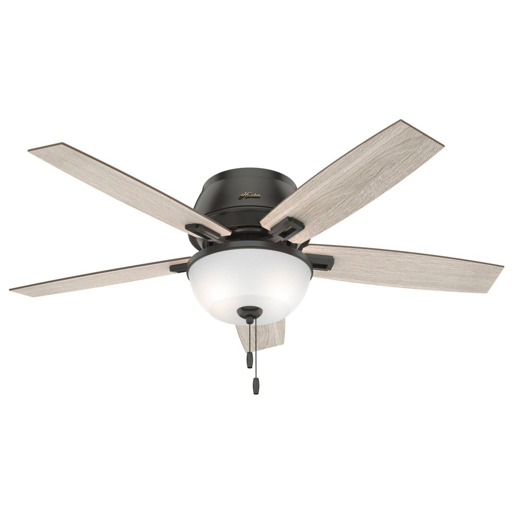 "Image of ""52"""" LED Donegan LP Ceiling Fan with Light Noble Bronze - Hunter Fan"""
