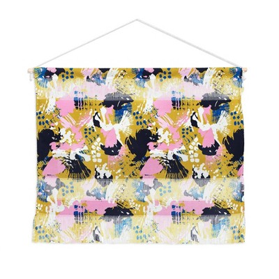 "22"" x 16"" Small Marta Barragan Camarasa Abstract Brushstrokes 02 Fiber Wall Hanging - Deny Designs"