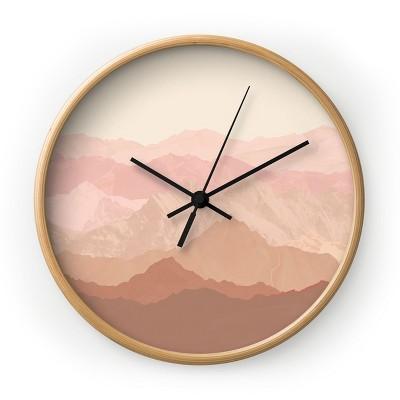 Iveta Abolina Coral Spice Round Clock