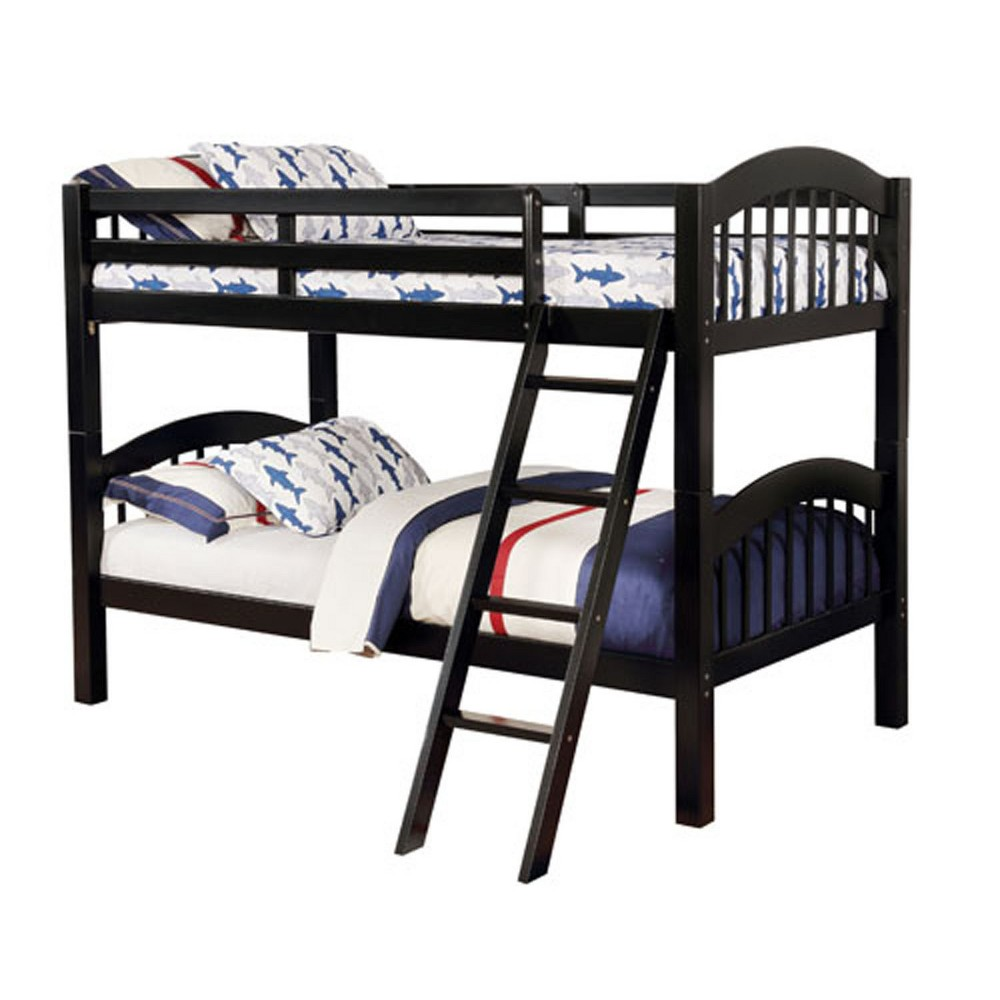 Twin Gary Kids Bunk Bed Over Black - Homes: Inside + Out