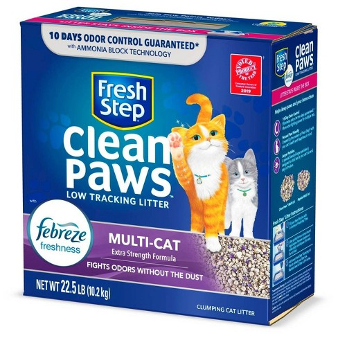 Fresh Step Clean Paws Multi-Cat with the Power of Febreze Scented Clumping Cat Litter - 22.5lbs - image 1 of 4