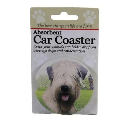 """Car Coaster 2.5"""" Soft Coated Wheaton Terrier Absorbant Car Coaster E & S Pet  -  Coasters"""