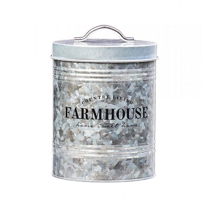 Amici Home Farmhouse Metal Storage Canister, 76oz