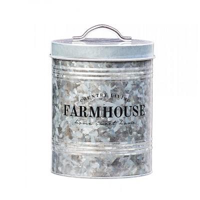 Amici Home Farmhouse Metal Storage Canister, 76oz