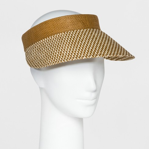 Women s Straw Visor Hat - A New Day™ Yellow   Target f21af51c77c