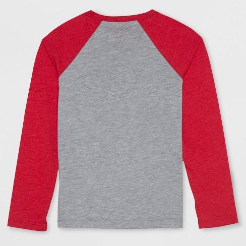 Boys Stranger Things Bikes Long Sleeve Raglan T Shirt Heather