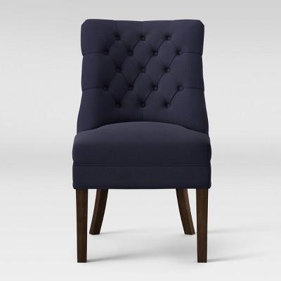 Winslow Tufted Back Slipper Chair Navy - Threshold™