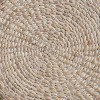Split P Braided Hyacinth Round Placemat Set - White - image 3 of 4