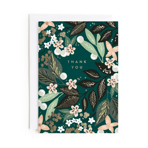 Minted Floral Pattern Thank You Card - image 1 of 1