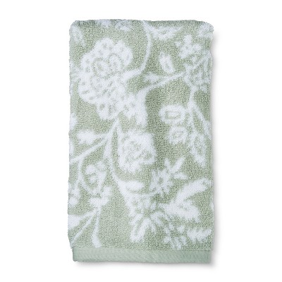 Performance Floral Hand Towel Forgotten Sage - Threshold™